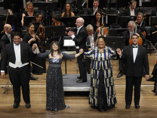 Opera singers Darren Pene Pati, Kristin Darragh, Aivale Cole and Phillip Rhodes.