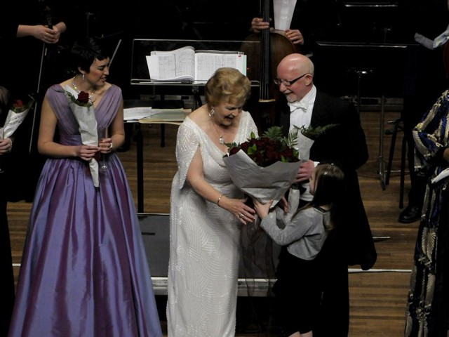 Dame Malvina Major and internationally acclaimed conductor Wyn Davies.
